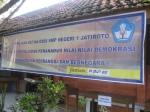 spanduk Pemilu SMP N 1 Jatiroto